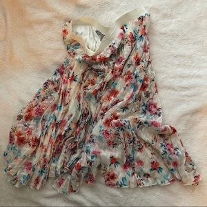 Daniel Rain Multicolor Pleated Skirt